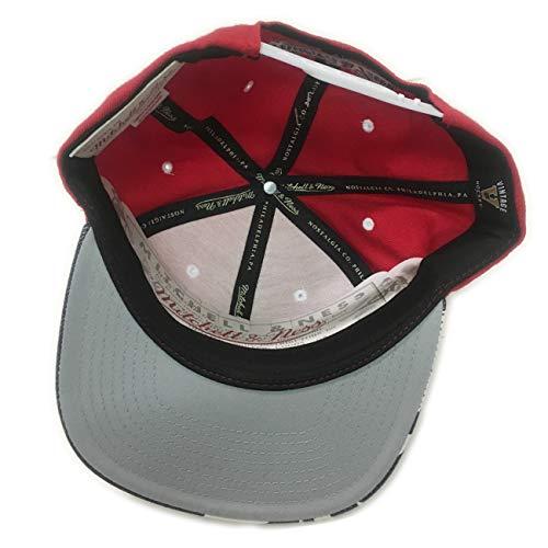 Gorra Ness para Rojo béisbol Hombre única Mitchell Talla amp; Rojo de Eqx5TZ