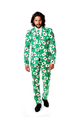 Opposuits Poker Card Dealer Suit Fancy Dress Stag Night UK48 Costume by The Dragons (Poker Dealer Costumes)
