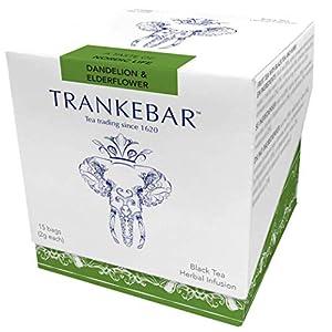Trankebar Black Tea Herbal Infusion (Dandelion & Elderflower, 3 pack of 15 tea bags) Premium Specialty Tea Made With Quality Ingredients 56