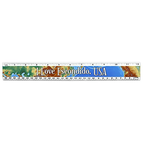 i-love-heart-city-country-d-f-12-inch-standard-and-metric-plastic-ruler-escondido-usa