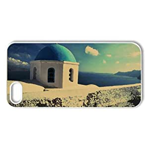 Santorini Church Watercolor style Cover iPhone 5 and 5S Case (Greece Watercolor style Cover iPhone 5 and 5S Case)