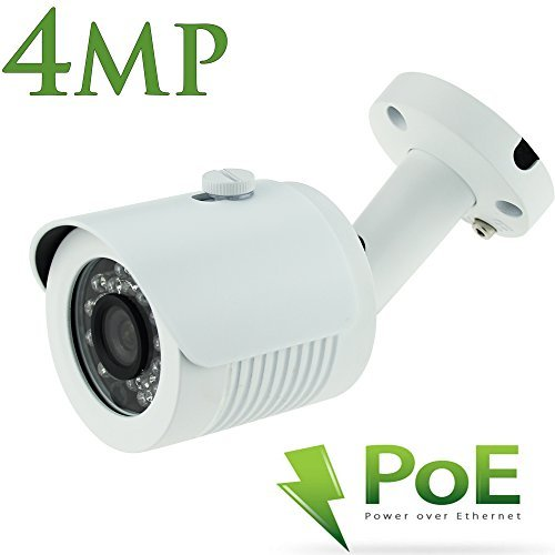 POE Bullet IP Security Camera -4 megapixel high resolutionDurable IP66 Aluminum Housing Wide Angle with 3.6mm lens24 LEDs For Clear 65 Feet Night Vision by Alptop [並行輸入品] B01KDNYB3A
