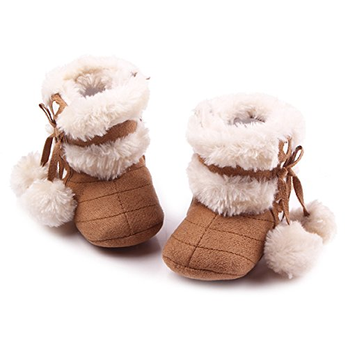 (xhorizon FL1 Baby Girls Toddler Heart Fleeces Warm Winter Boots Shoes)