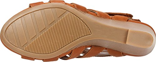 Womens Casual by Toe Tan Round VIVALDI White Sandals Slingback Mountain Cliffs tw0afxqx