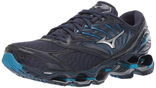 Mizuno Men's Wave Prophecy 8 Running Shoe, Blue Wing Teal-Silver 7.5 D US