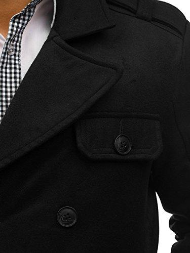 Revers 3123 – Da Uomo Monopetto Cappotto Elegante Bolf Con 4d4 Nero Cerniera Bottoni Semi Collo 6w0W5qS