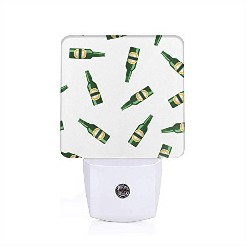 - NIGTLIGHT Lager Bottle Beer Personality Funny Pattern LED Night Light Automatic Control Dusk to Dawn Switch Plug-in Nightlight for Bedroom Bathroom Hallway Stairways Children