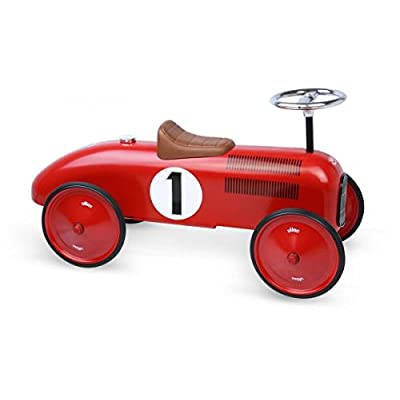 "Vilac Vintage Ride On Car, Metal Speedster. 30"" Long (Red) : Baby"