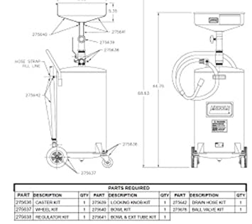 275642 Drain Hose Kit for LN3601 Lincoln Industrial Corp