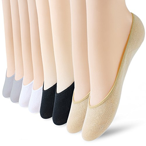 8 Pairs No Show Socks Women No Show Liner Socks Womens No Show Socks Thin Low Cut Casual Socks Non Slip(8pack)