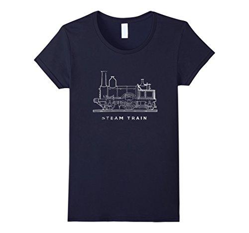Womens Steam Train Love Model Trains T Shirt Vintage Loco...