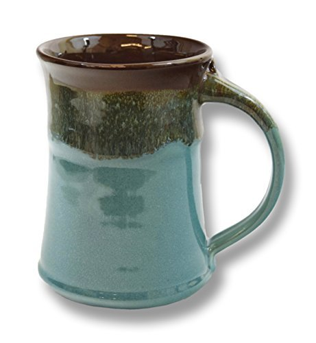 (Clay in Motion Handmade Ceramic Large Mug 20oz - Ocean Tide)