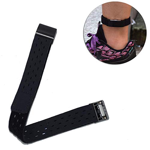 DDJOY Compatible Ankle Band for Fitbit Charge 2 Watch, Breathable Sport Loop Ankle Band for Men and Women (Small, Black)