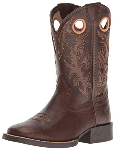 Price comparison product image Ariat Kids' Barstow Western Cowboy Boot, Brown Crinkle, 1 M US Little Kid
