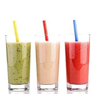 [200 Pack] Jumbo Smoothie Straws, Assorted Colors (Color: Assorted Colors, Tamaño: 200 Pack)