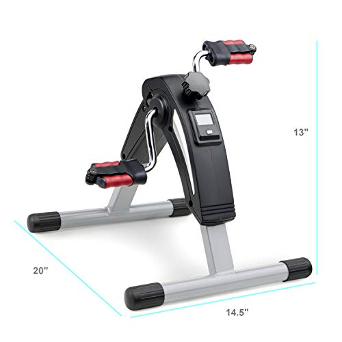 MarcyPortable Mini Magnetic Cardio Cycle Under Desk Bike Pedal Exerciser for Home Gym and Office NS-914