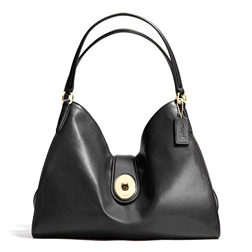 Coach-Carlyle-Smooth-Leather-Shoulder-Bag-37637-Black