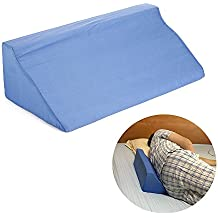 Patient Positioning Back Wedge Pillow Case Bedroom Body Alignment Air Foam Bed Medical Side Sleeper Cushion Positioners Pad for Knee,Legs,Pregnancy,Acid Reflux - helps Maintain Laying Position