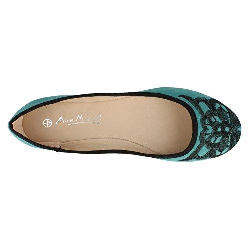 Green L4946 Michelle Ladies Flats Anne Ballerina x7f1Og
