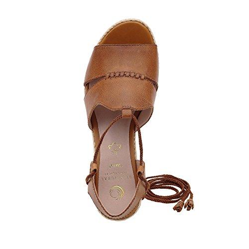 Jana 8-8-28301-28/440 - Sandalias de vestir de Piel Lisa para mujer marrón