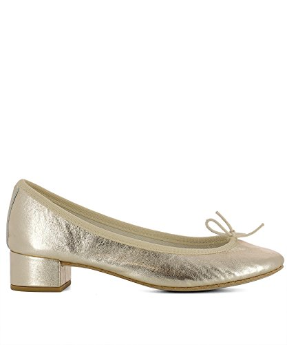 Repetto Cuir Or V511am418 Femmes Chaussures À Talons