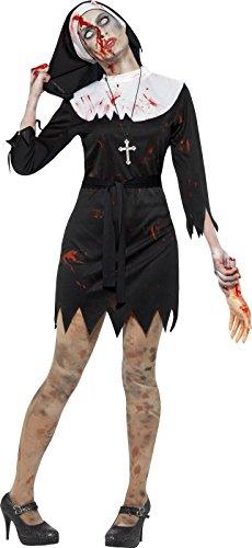 Smiffy's Women's Halloween Zombie Nun Sister Costume (large)