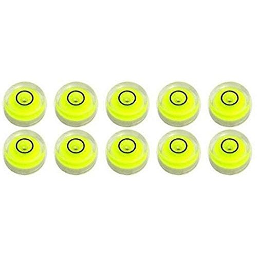 10 Pack Bubble Spirit Level Degree Mark, 10x6mm Circular Bullseye Level Measuring Instruments Spirit Level, Use for Tripod, Phonograph, Turntable (10x6mm)