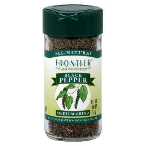 Frontier Black Pepper Medium Grind 1.8 OZ (Pack of 9)