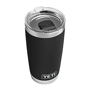 YETI Rambler 20 oz Stainless Steel Vacuum Insulated Tumbler w/ MagSlider Lid, Black