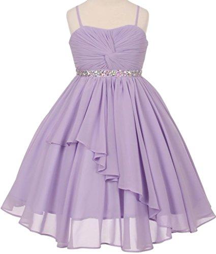 Flower Girl Dress Hand Twist Chiffon with Ruffles & Layers for Little (Chiffon Twist Dress)