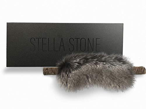 Stella Stone Faux Fur Sleep Mask