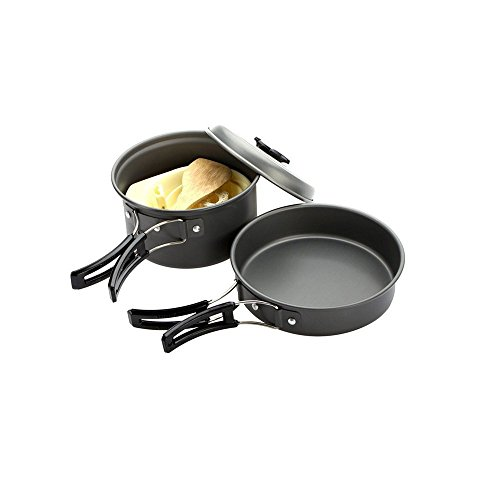 Camping Cookware Set 9Pcs Backpacking Cooking