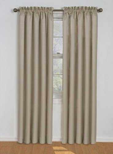 Eclipse Samara Blackout Energy-Efficient Curtain-Latte-42Wx