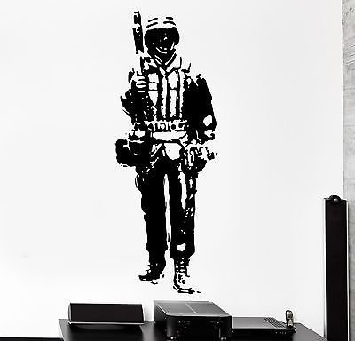 Military Wall Border - Wall Vinyl Soldier Warrior Military Forces Guaranteed Quality Decal VS3454