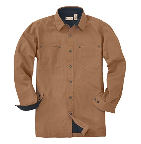 Backpacker Canvas/Fleece Lined Shirt Jacket, Brown, X-Large