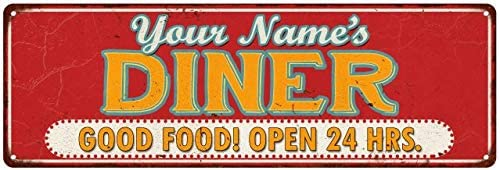 Chico Creek Signs Your Name's Diner Personalized Retro Style Vintage Metal  Sign 6x18 206180077001