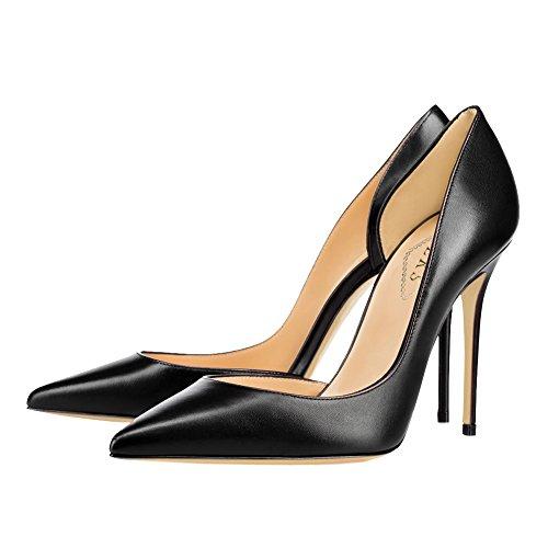 EKS - Zapatos de tacón fino Mujer Schwarz-matte