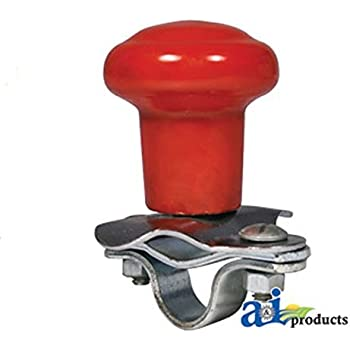 Red Tractor Steering Wheel Spinner Knob