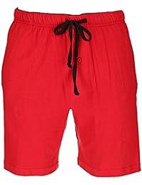 Men's Jersey Knit Cotton Button Fly Pajama Sleep Shorts