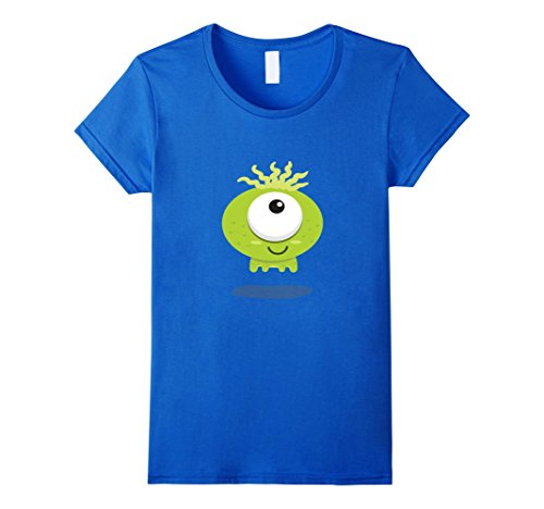 Womens Monster Halloween T Shirt Easy Group Costume Boys Girls Cool Large Royal Blue