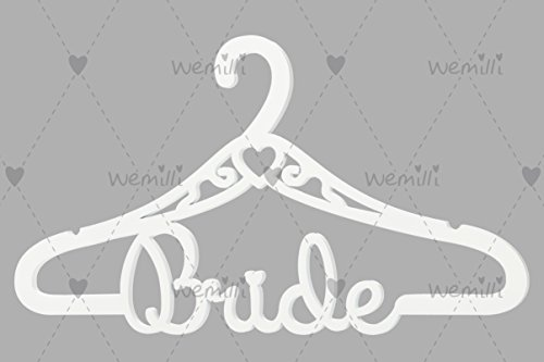 White Vintage Wooden Wedding Dress Hanger BRIDE - Perfect Bridal Shower Gift