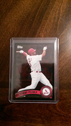 2011 Topps Walmart Black Albert Pujols #100 St.louis Cardinals Baseball Card