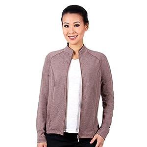 Nozone Lanai Full Zip Sun UPF 50+ Shirt by in Chocolate Mix, Small