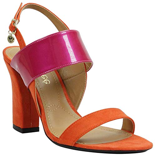 J.Renee Women's Emberley (Orange/Fuchsia, 10 M US)