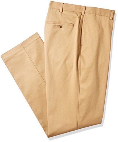 Savane Men's Big and Tall Flat Front Stretch Ultimate Performance Chino, Ermine, 58W x 30L by Savane