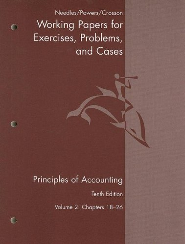 Principles of Accounting Working Papers V2 Chapters 18-26