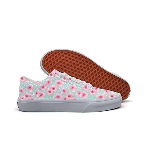 Es Vintage Black Cherry - Refyds-es Spring with Small Cherry Blossom Womens Fashion Low Top Canvas Basketball Sneakers