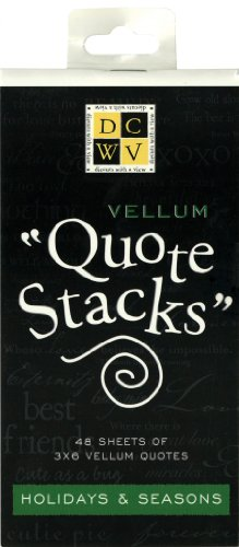 Die Cuts With A View Holidays Quote Stack
