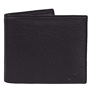 Mens Black Genuine Leather Wallet – Nappa by Pierre Cardin | RFID Blocking | Soft, Smooth, Durable & Crease Proof Bi-Fold Gents Wallet (Black/Red Lining)