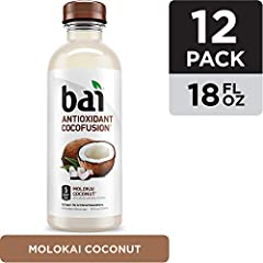 Bai Cocofusions Molokai Coconut Antioxidant Infused Beverages offer a full kick of flavor and hydration without the excess sugar and calories. Delectable coconut-flavored water delivers a taste of sunshine in every sip, with only 5 calories a...